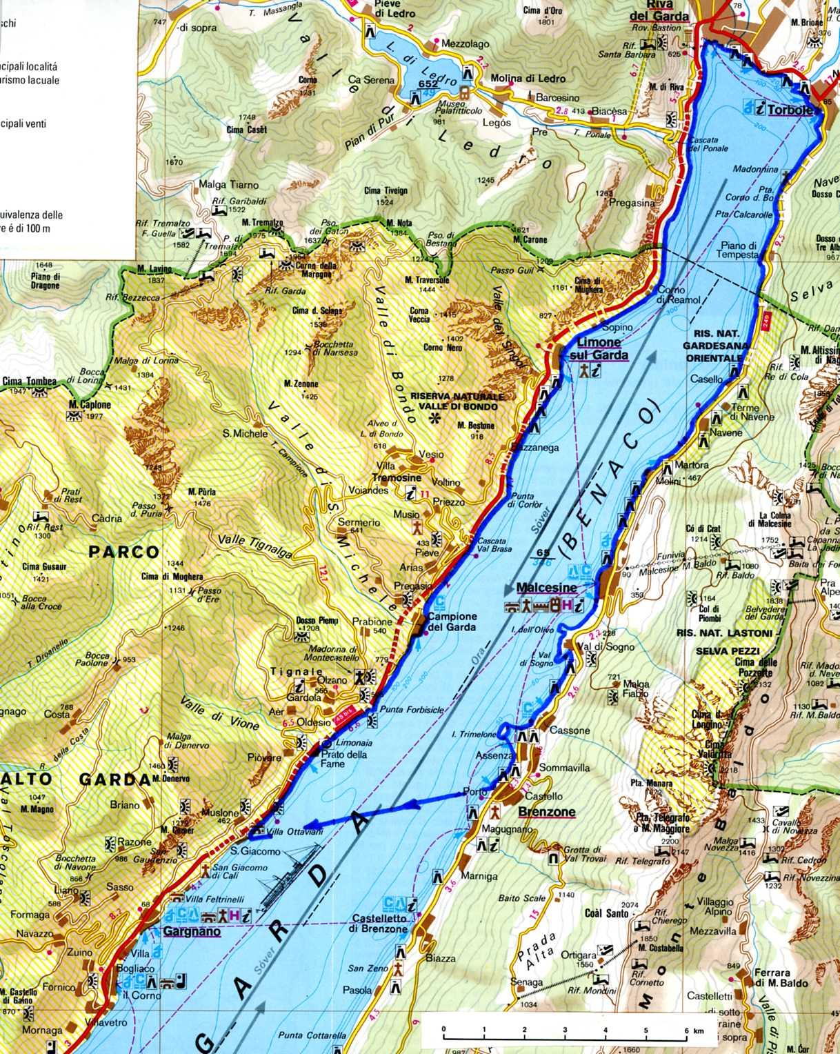 Cartina Stradale Lago Di Garda.Alto Lago Di Garda Eko
