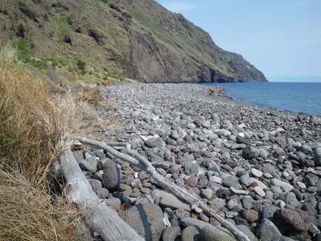 La costa occidentale di Vulcano