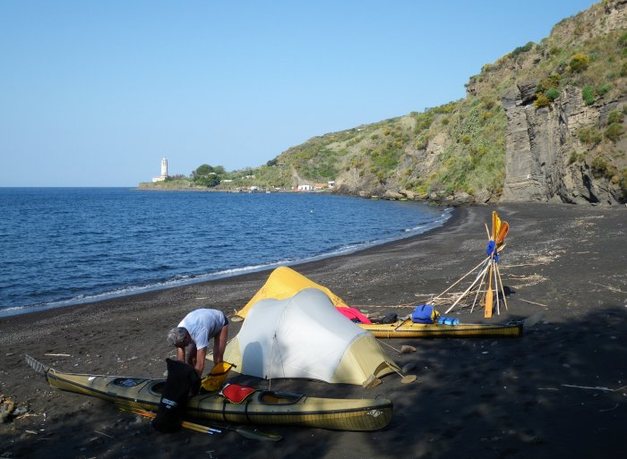Campo alla spiaggia dell'Asino (alba)