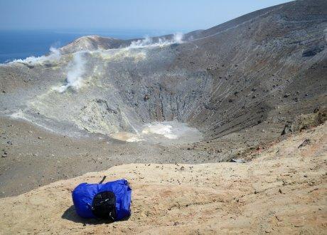 il mio zainetto sul Gran Cratere
