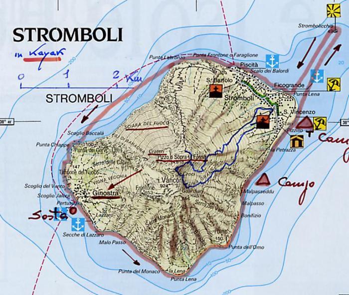 Mappa dell'Istituto geografico DeAgostini