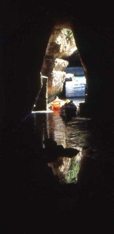cunicolo nella Grotta della Poesia