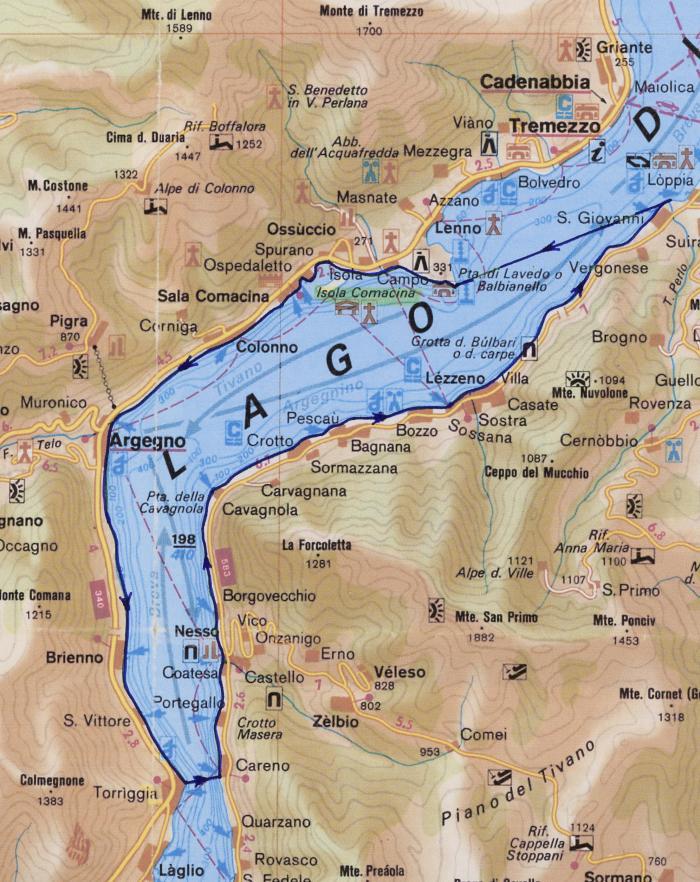 """Mappa Escursione in kayak """"Pagaiata del Barbarossa"""" - Istituto Geografico DeAgostini"""