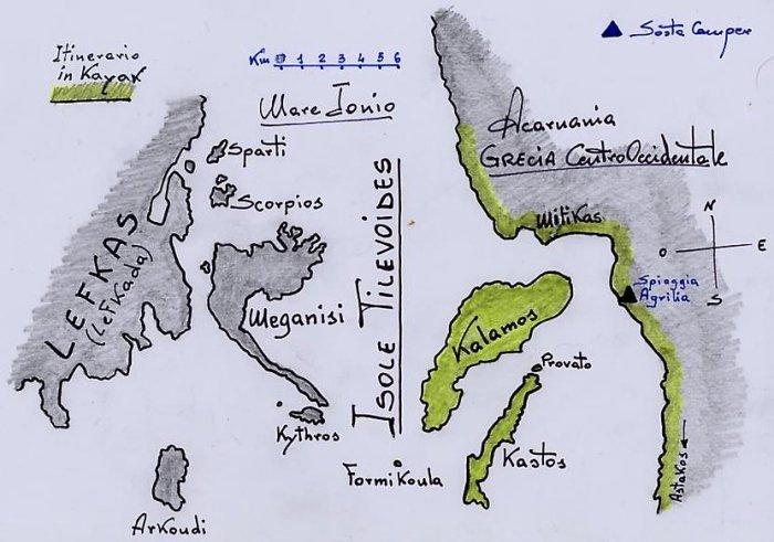 a sud-est di Lefcada - Arcipelago Tilevoides