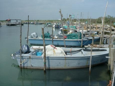Porticciolo di pesca all'ingresso della sacca di Scardovari (vicino a Barricata)