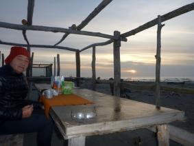 colazione attendendo l'alba al Bonello Bacucco