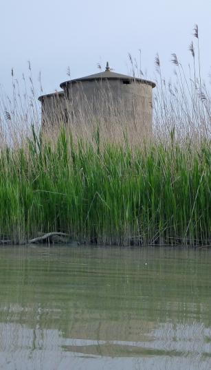 Silos Daccò in laguna degli Allagamenti Sud