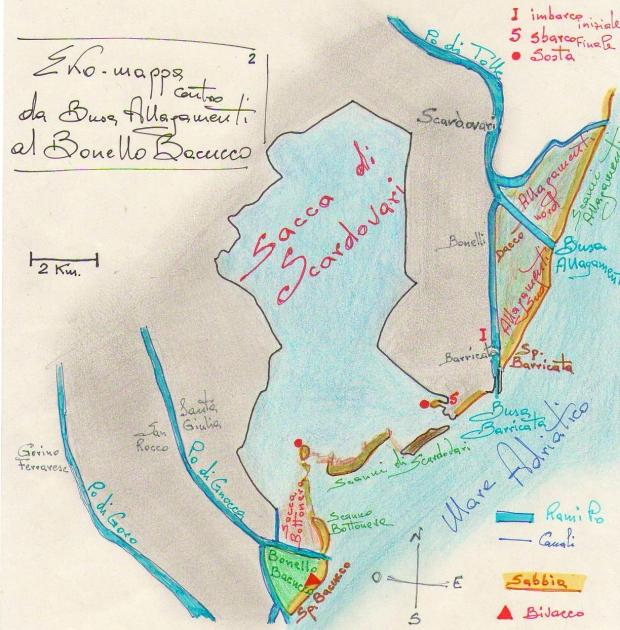 Ekomappa 2 Delta Po - dagli Allagamenti al Bacucco con la Sacca Scardovari.