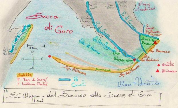 Ekomappa 3 - Delta Po -  Dal Bonello Bacucco alla Sacca di Goro