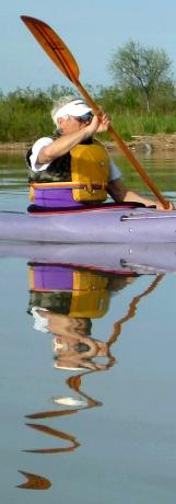 Stefano e il suo riflesso nel canale dal Po di Tolle agli Allagamenti Sud